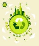 Illustration de la terre verte Images stock