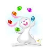 Lapin de Pâques de jonglerie Photo stock