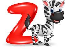 Illustration de lettre de Z pour le zèbre Photo libre de droits