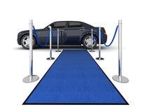 Illustration de limousine de tapis de VIP illustration stock