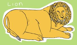 Illustration de lion Image stock