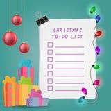 Illustration de liste de remue-ménage de Noël Images stock