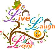 Illustration de Live Laugh Love illustration libre de droits