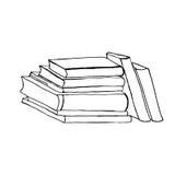Illustration de livres tirée par la main pour votre conception Conception de griffonnage Photo libre de droits