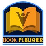 Illustration de logo d'éditeur de livre sur le blanc illustration libre de droits