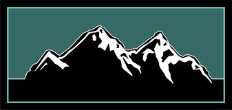Illustration de logo de montagne illustration stock