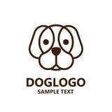 Illustration de logo mignon de chien sur le fond blanc Photo libre de droits