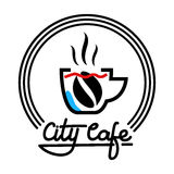 Illustration de Logo Template Design Vector de café de ville Photos stock