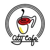 Illustration de Logo Template Design Vector de café de ville Photographie stock