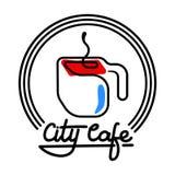 Illustration de Logo Template Design Vector de café de ville Image libre de droits