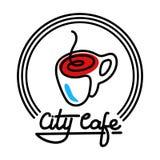 Illustration de Logo Template Design Vector de café de ville Images libres de droits