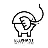 Illustration de Logo Vector d'éléphant Images stock