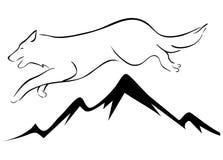 Illustration de loup Photos libres de droits