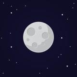 Illustration de lune de vecteur sur le ciel foncé Images libres de droits
