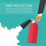 Illustration de lutte anti-incendie illustration stock