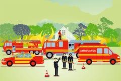 Illustration de lutte contre l'incendie illustration de vecteur