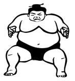 Illustration de lutteur de sumo illustration stock