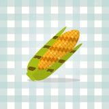 Illustration de maïs d'icône de vecteur Nourriture minimaliste Photo libre de droits