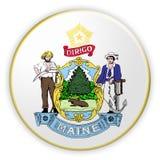 Illustration de Maine 3d de joint d'état d'USA d'insigne illustration libre de droits
