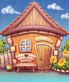 Illustration de maison de bande dessinée Image stock