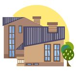 Illustration de maisons urbaines image stock