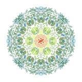 Illustration de mandala d'aquarelle Photos stock
