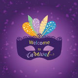 Illustration de Mardi Gras Pattern Vector Photos libres de droits