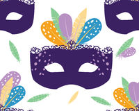 Illustration de Mardi Gras Pattern Vector Image stock