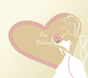 Illustration de mariage Images libres de droits