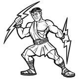 Illustration de mascotte de titan illustration de vecteur