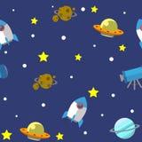 Illustration 02 de modèle de l'espace Photographie stock libre de droits