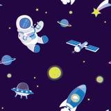 Illustration de modèle de vecteur des objets de l'espace illustration stock