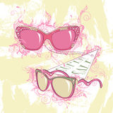 Illustration de mode de deux lunettes de soleil Image libre de droits