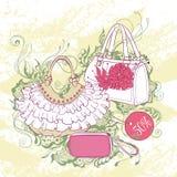 Illustration de mode de divers sacs à main Photo stock