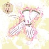 Illustration de mode des gants de femmes blanches Photo libre de droits