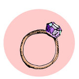 Illustration de mode Diamond Ring Photographie stock