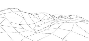 Illustration de montagne d'ensemble Photos stock