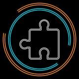 Illustration de morceau de puzzle de vecteur - puzzle illustration stock