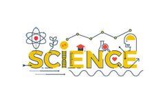 Illustration de mot de la Science illustration stock