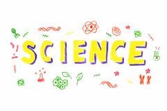 Illustration de mot de la Science illustration de vecteur