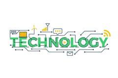Illustration de mot de technologie illustration stock