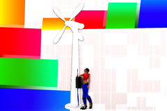 illustration de moulin à vent des femmes 3d Photos libres de droits