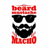 Illustration de moustache Macho de moustache de barbe illustration libre de droits