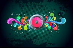 Illustration de musique Images stock