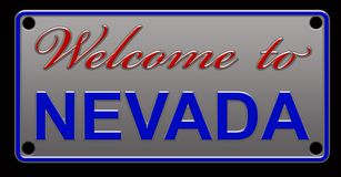 Illustration de Nevada License Plate illustration de vecteur