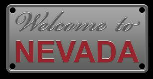 Illustration de Nevada License Plate illustration libre de droits