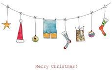 Illustration de Noël Photos libres de droits