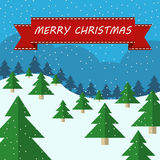 Illustration de Noël avec des arbres Photos libres de droits