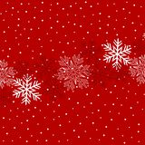 Illustration de Noël avec des flocons de neige sur le fond rouge foncé dans des couleurs rouges illustration libre de droits