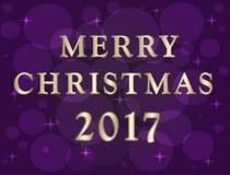 Illustration de Noël avec l'effet de bokeh Photos stock